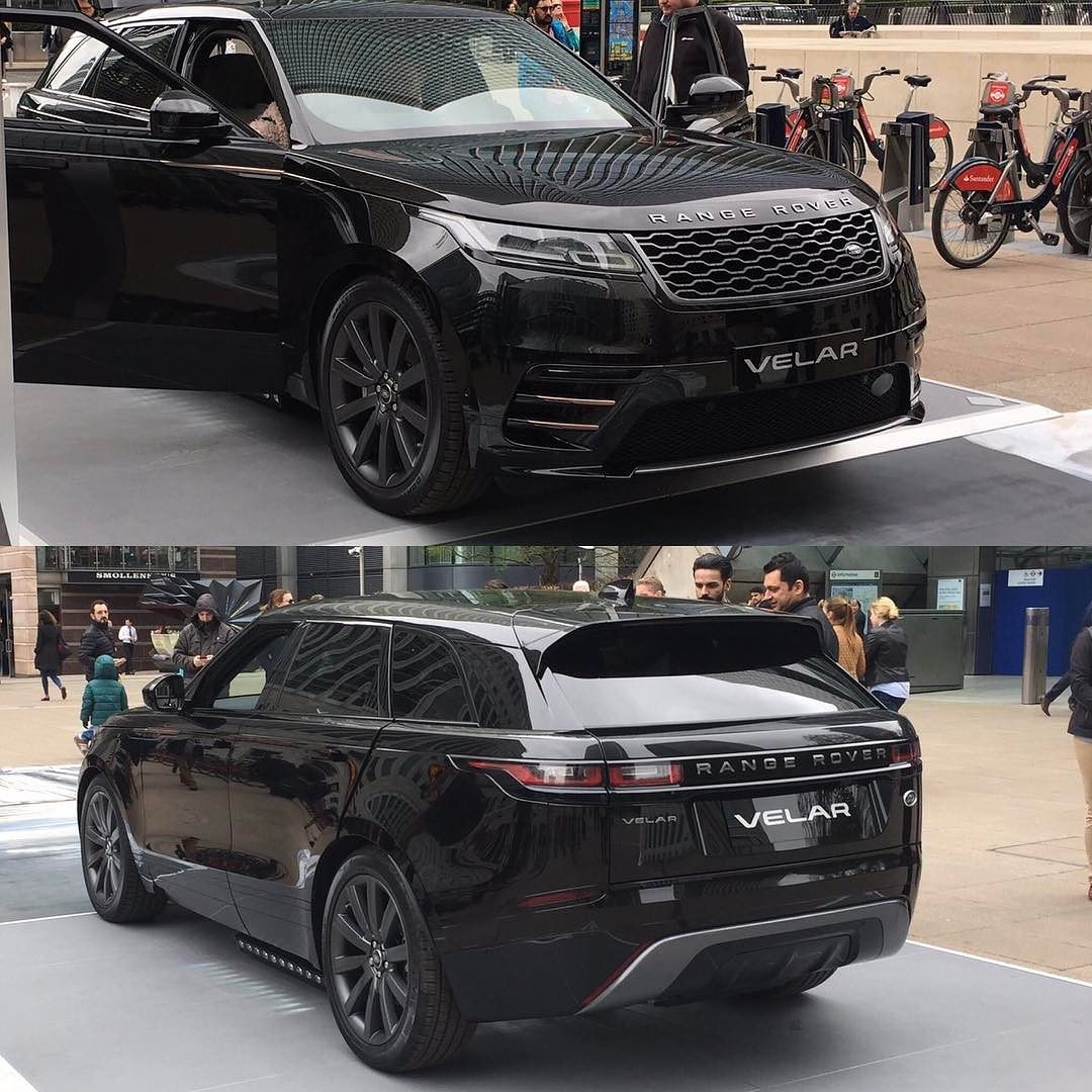 the range rover velar on display at canary wharf in london rangerover velar canarywharf. Black Bedroom Furniture Sets. Home Design Ideas